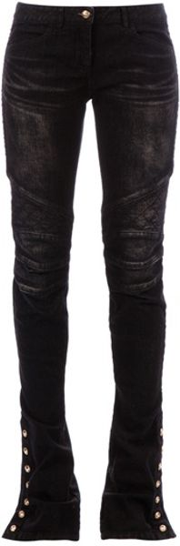 Balmain Slim Jean in Black - Lyst