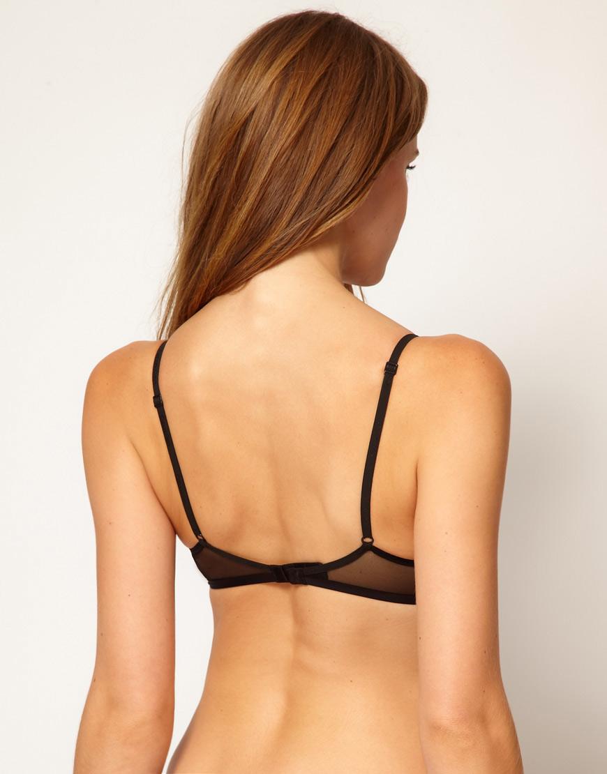 94b16e3bdfc18 Lyst - Calvin Klein Envy Lace Triangle Bra in Black