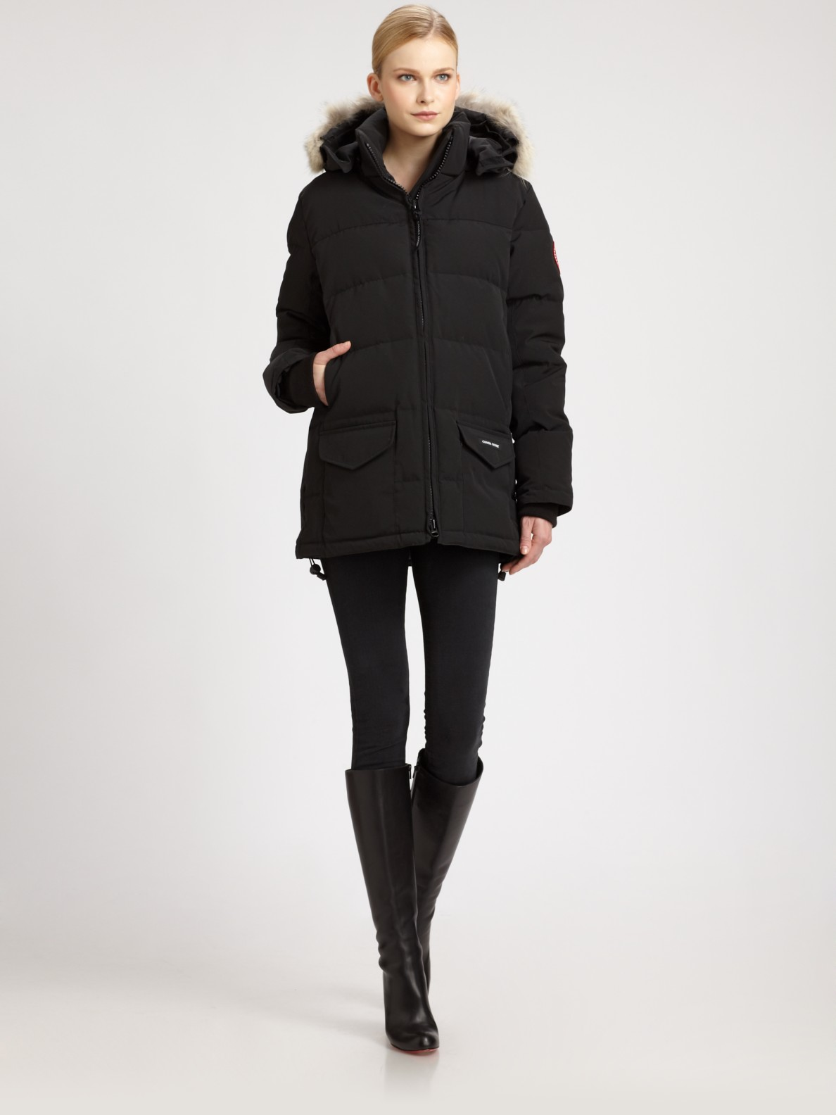 Canada Goose mens sale authentic - Canada goose Solaris Parka in Black | Lyst