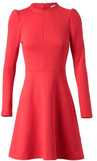 Carven Tailored Cotton Dress - Lyst