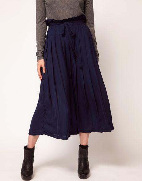 cheap monday skirt in blue lyst