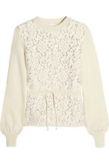 Chloé Florallace and Woolblend Sweater