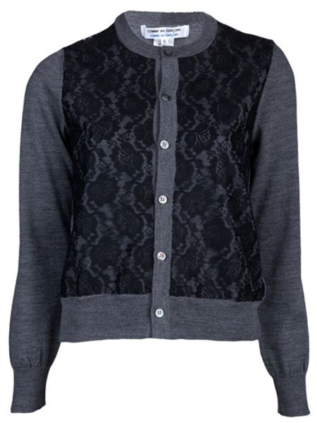 Comme Des Garçons Knit Cardigan in Gray (grey)