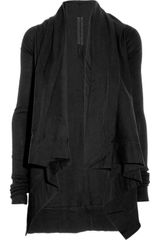 DRKSHDW by Rick Owens Draped Cotton Jersey Cardigan - Lyst