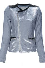 Iro Sequin Cropped Jacket - Lyst