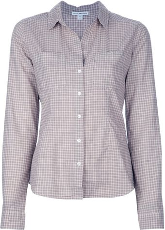 James Perse Checked Shirt - Lyst