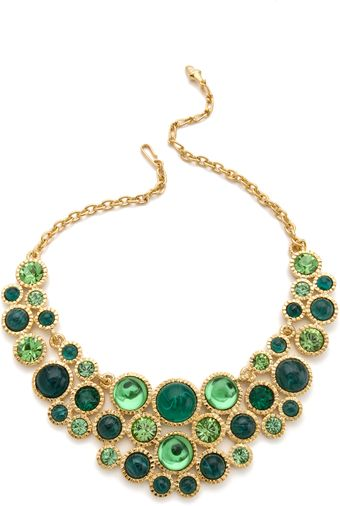 Kenneth Jay Lane  Cabochon Bib Necklace - Lyst