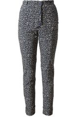 Kenzo Bicolour Patterned Cotton Trousers - Lyst