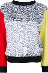 Labour Of Love Contrast Panel Sweater - Lyst