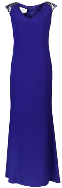 Marchesa Crepe Dress - Lyst