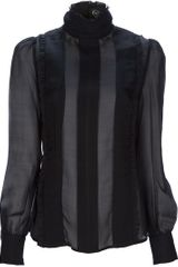 Mcq By Alexander Mcqueen Ruffle Blouse in Black - Lyst