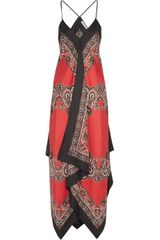 Michael by Michael Kors Printed Silk Maxi Dress - Lyst