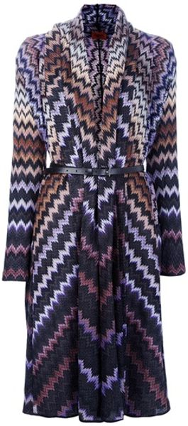 Missoni Zig Zag Knitted Cardigan in Multicolor (multicoloured) - Lyst