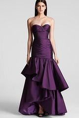 Ml Monique Lhuillier Strapless Gown  - Lyst