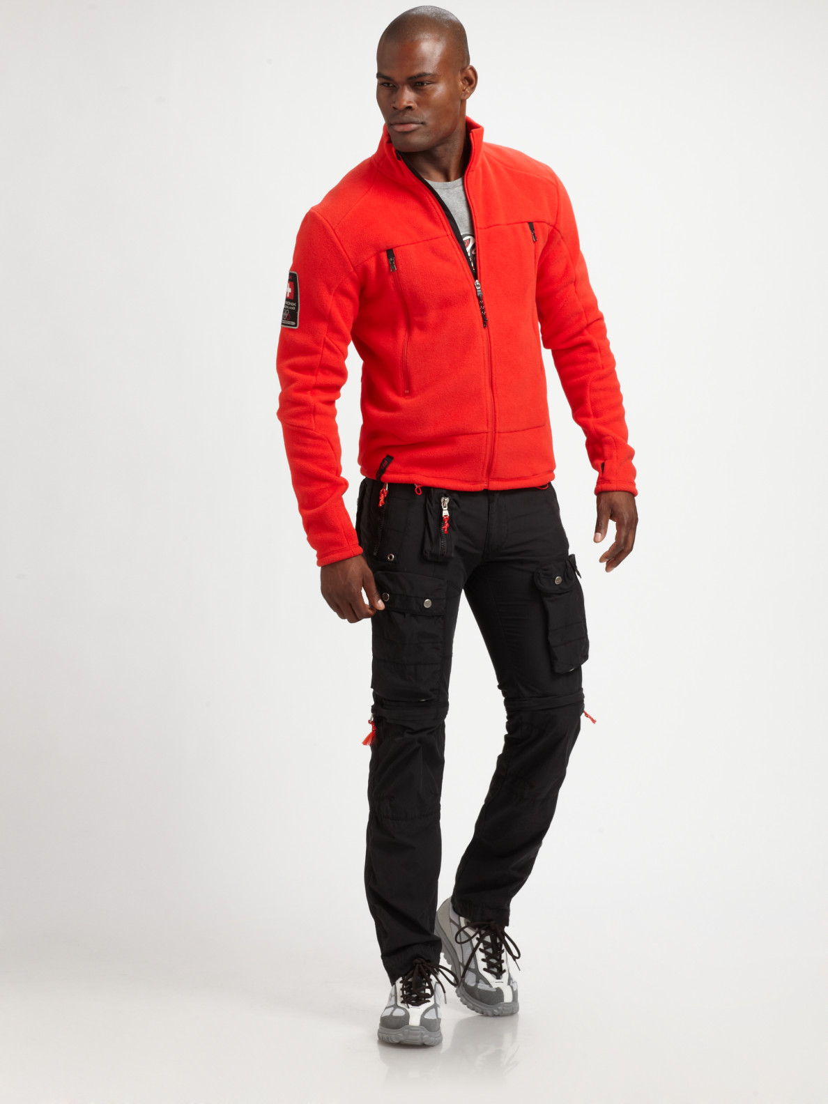 Rlx Ralph Lauren Fleece Fullzip Jacket In Red For Men Lyst