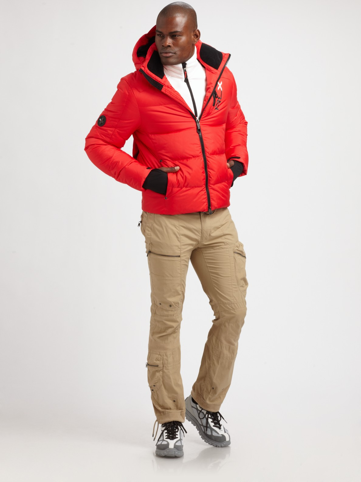 Mens Red Down Jacket - Coat Nj