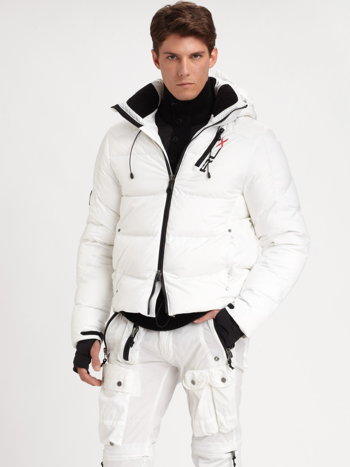 Rlx ralph lauren Core Down Jacket in White for Men | Lyst