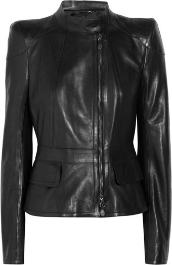 Roberto Cavalli Leather Jacket - Lyst
