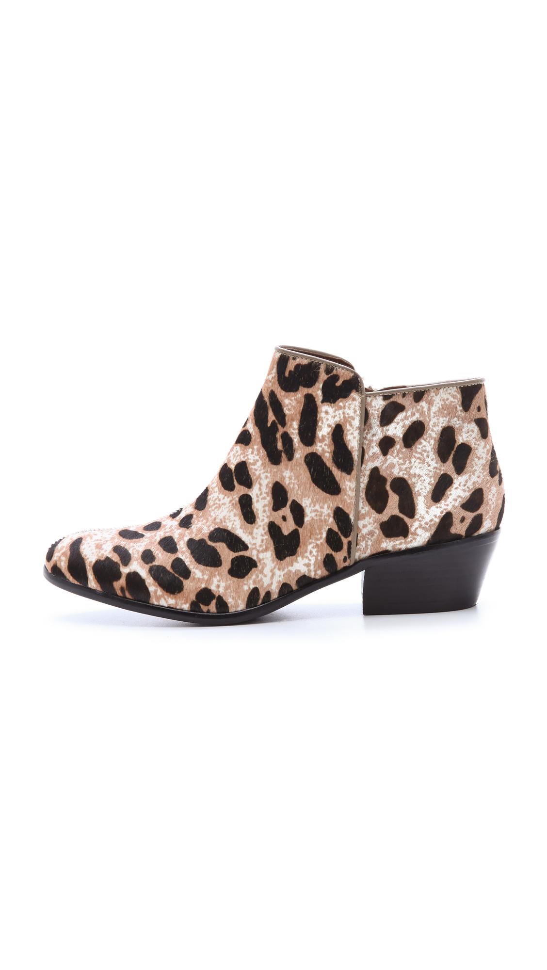 259defb9a Sam Edelman Petty Leopard Calf Hair Low Heel Ankle Boot. Sam Edelman Petty  Haircalf Booties ...