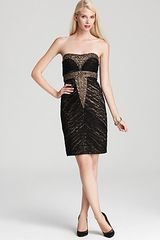 Sue Wong  Beaded Strapless Dress - Lyst