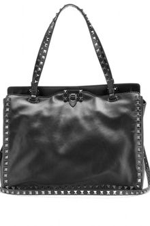 Valentino Rockstud Small Leather Tote - Lyst