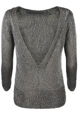 Allsaints Gloss Kia Jumper in Silver (light gunmetal) - Lyst