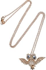 Anita Ko Owl 18karat Rose Gold Diamond Necklace - Lyst