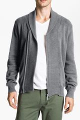 Ben Sherman Shawl Collar Zip Cardigan - Lyst