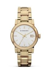 Burberry Gold Stainless Steel Watch 34mm - Lyst