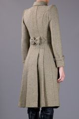 Burberry Prorsum Tweed Trench in Brown - Lyst