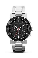 Burberry Silver Ceramic and Stainless Steel Watch 42mm - Lyst