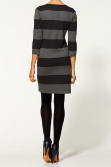 Long Sleeve Sweater Dress on Calvin Klein Color Block Long Sleeve Sweater Dress   Lyst