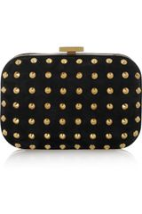 Gucci Studded Suede Mini Box Clutch