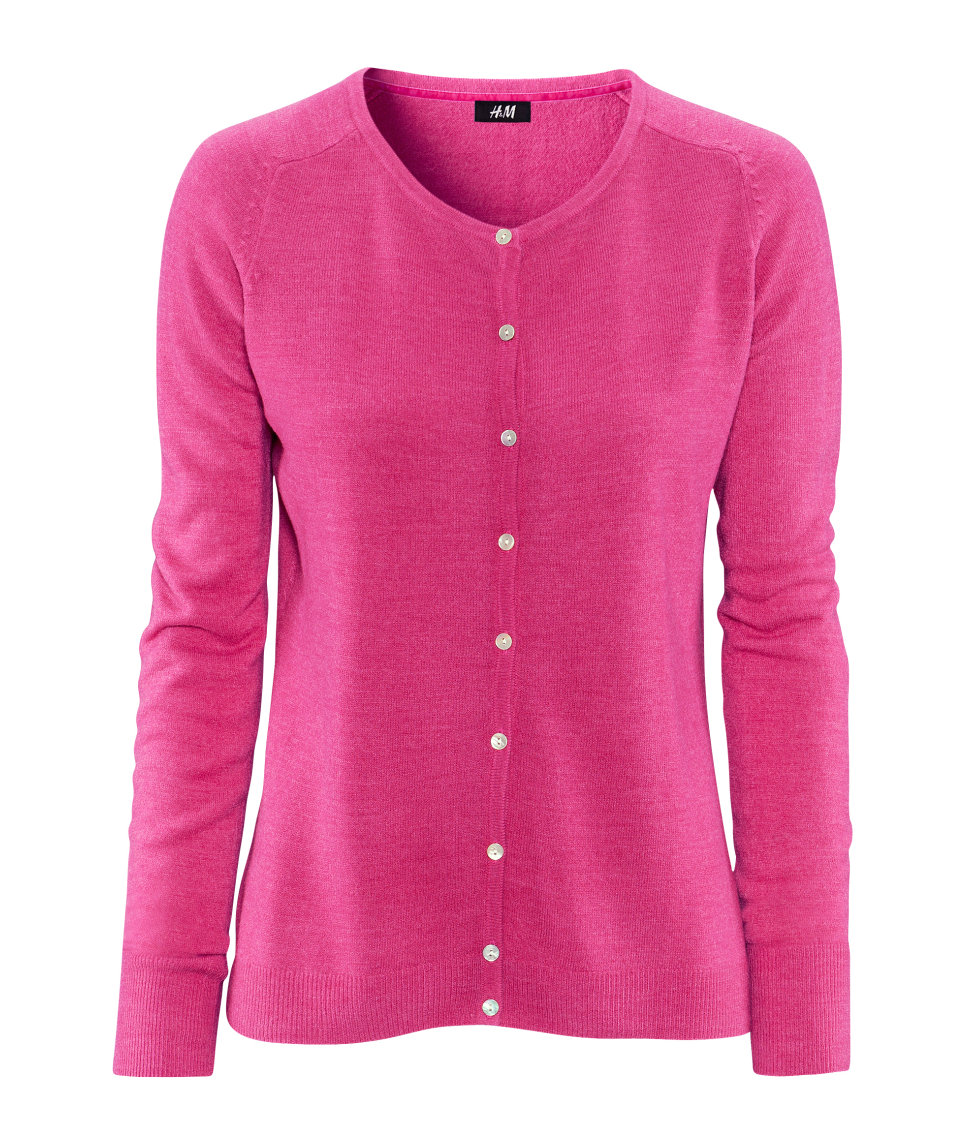 H&m Cashmere Cardigan in Pink | Lyst