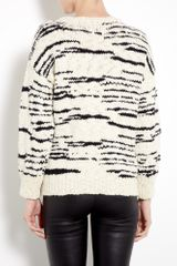 Iro Cream and Black Merino Knitted Jumper in Beige (cream) - Lyst