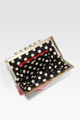Kate Spade Pardon My French Patent Leather Clutch in Red - Lyst