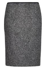 Mango Mango Midi Skirt Dark Grey in Gray (grey) - Lyst