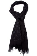 Marc By Marc Jacobs Logo Shawl Scarf - Lyst