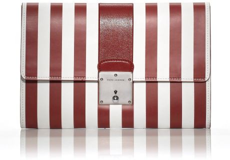 Marc Jacobs Ss The Prisoners Skunk Clutch in Red in White (red stripe) - Lyst