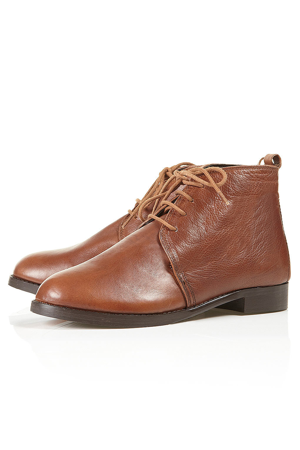 matisse matisse leather boots in brown lyst