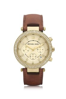 Michael Kors Midsize Parker Chronograph Glitz Watch - Lyst