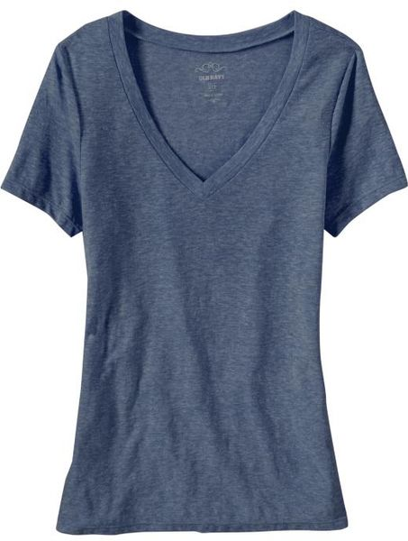 Old Navy Vintage Style V-Neck Tee in Blue