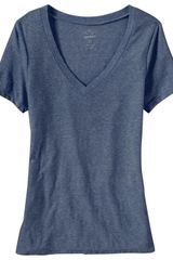 Old Navy Vintage Style VNeck Tee in Blue - Lyst