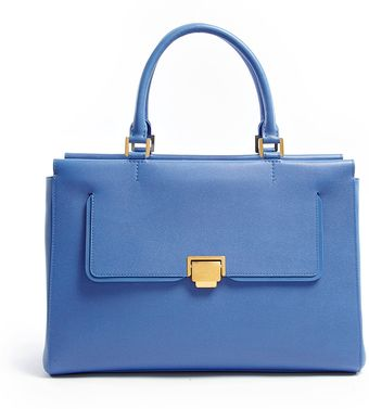 Smythson Nile Blue W1 East West Tote - Lyst
