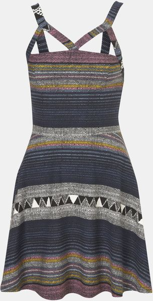 Topshop Baja Harness Dress in Multicolor (blue/ multi) - Lyst