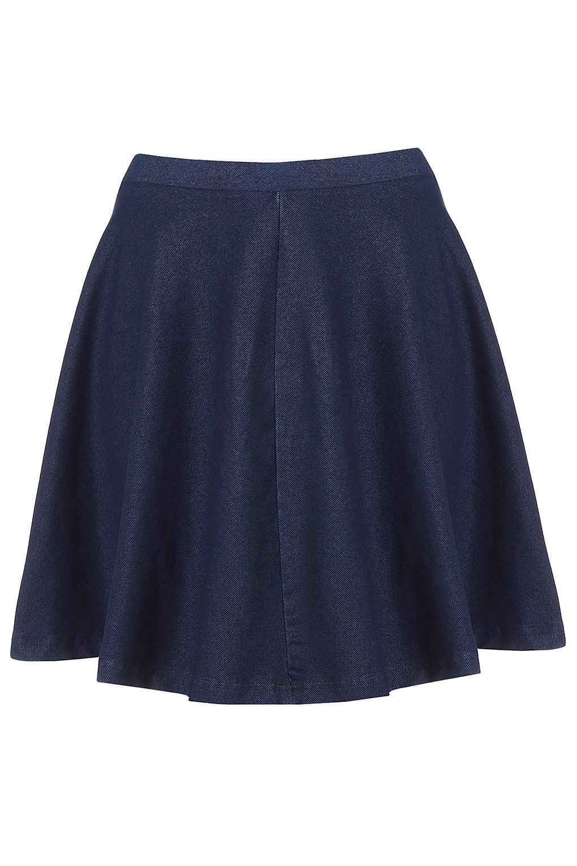 0228d846db Lyst - TOPSHOP Dark Denim Skater Skirt in Blue