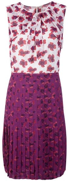 Tory Burch Floral Pleated Dress in Floral