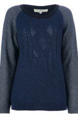 Vanessa Bruno Athé Three Colour Knit Jumper - Lyst