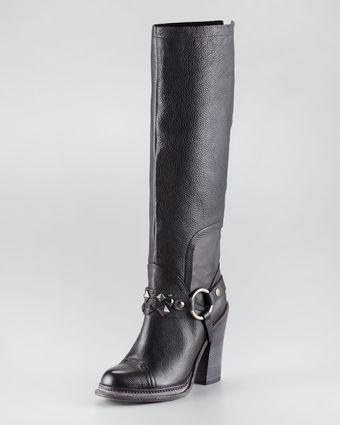 Vera Wang Kenya Harness Leather Knee Boot - Lyst