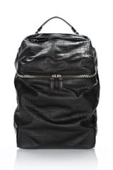 Alexander Wang Wallie Backpack in Embossed Croc with Rhodium - Lyst